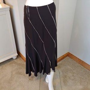 Womens 10 Joseph Ribkoff skirt midi black tan